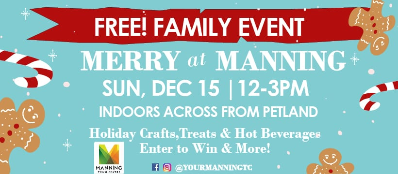 INVITE: Merry at Manning Holiday Event - Sun Dec 15